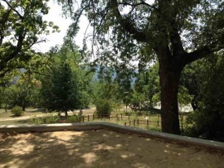 une vue depuis l'école de Beauvallon, centre de vacances