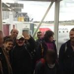 Le groupe du séjour de vacances adaptées est arrivé à l'aéroport