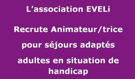recrute animateur sejours adaptés 2019